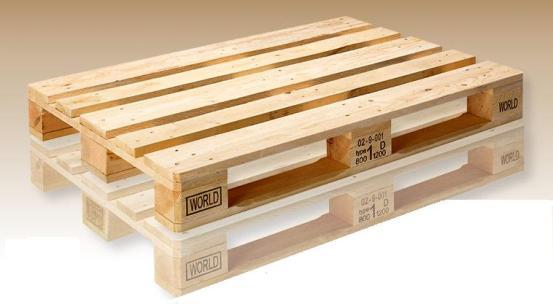 Palets 800x1200 sin sello eur for Medidas de palets de madera